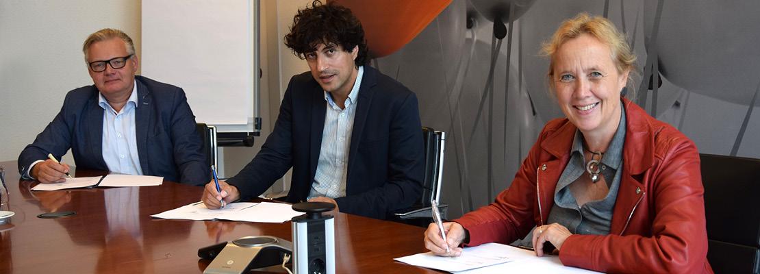 ondertekening technohub johan de haas inge nieuwenhuizen Jan van Laake